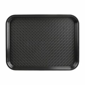 Kristallon Small Tray in Black Made of Polypropylene Stackable - 345x265mm