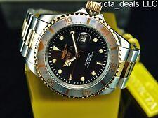 Invicta Men 43mm Pro Diver Japanese Quartz Black MOP Dial Gold IP 2Tone SS Watch