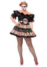 Day of the Dead Dia de los Muertos Costume Mexico Dress Halloween Women 1X/2X
