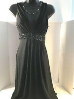 B. Smart Women's Black Polyester & Spandex Sleeveless Maxi Dress Size US 10