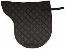 ALL PURPOSE TRAIL SHAPED JUMPING BLACK QUILTED ENGLISH HORSE SADDLE PAD TACK