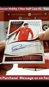 2019-20 Immaculate Soccer Robert Lewandowski Modern Marks /99 Auto Bayern Munich