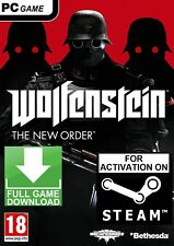 Wolfenstein: The New Order PC (NO CD/DVD) Global Steam Game FAST DELIVERY!