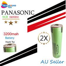2x Panasonic NCR18650BM 3200mAh Lithium Li-Ion Button Top Rechargeable batteries