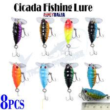 8x Mini Cicada Fishing Lure Topwater Popper Crawler Surface Bream Bass Cod Perch