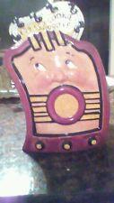 PRECIOUS Clay Art San Francisco 1995 Cookie Jar HUGE HP RADIO w 3D FACE!