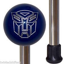 Transformers Autobot Blue Shift Knob Handle Polished Aluminum Custom Cane Stick