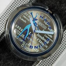 swatch pop vintage happy skiing pwn114 orologio anni90 raro da collezione nuovo