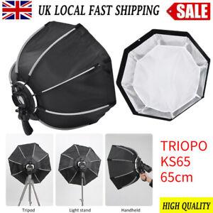 TRIOPO 65cm Portable Outdoor Octagon Umbrella Softbox Folding Flash Speedlite