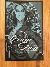 Very Very Rare Celine Dion Screen Print Poster 2008 Target Center Mn