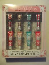 Royal Apothic 4 Scrubbie Lip Scrubs & 4 Lip Conditioner Balms