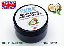 PURA® Fine COCONUT Activated Charcoal 100ML - Organic Teeth Whitening & Detox!!