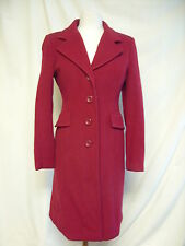 Ladies Coat -Tu, Size 10, Red, 70% Wool, Smart,   - 2496