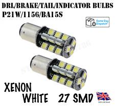 2X 1156/BA15S/382/P21W 27 SMD LED WHITE CANBUS REVERSE/FOG/DRL BULBS AUDI BMW VW