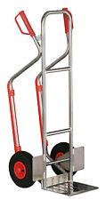 Alu-Stapelkarre bis 200 kg mit pannensicheren Vollgummi-Rädern - Made in Germany