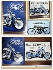 Lot (2)Harley-Davidson Hard-Cover Fully Illustrated Color Books Biker Coffee