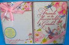 Journal & Memo Pad Desk Duo Friends are the Flowers in Life's Garden 100 Sheets