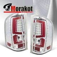 Chevy Silverado 07-2013 2nd Generation Red C-Streak LED Brake Tail Light Clear