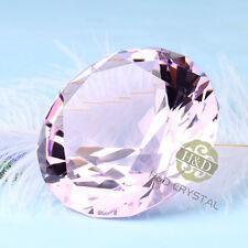 30mm Pink Glass Cut Crystal Diamond Paperweight Wedding Favor Gift Venue Decor