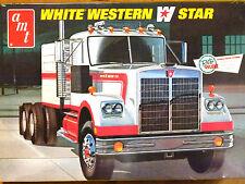 AMT 1:25 Blanco Western Star Camión Tractor Unidad Modelo Kit