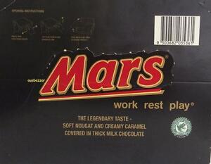 New Mars Bar Jumbo Pack 48 Pieces X 53 grams Box Chocolates AUS MADE