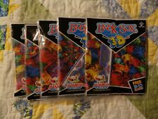 Lot of 5 Jumbo 3D Book Sox Stretchable Fabric Book Covers With Glasses Sealed