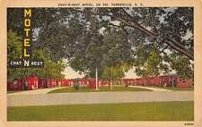 Turbeville South Carolina Chat N Rest Motel Linen Antique Postcard K19385
