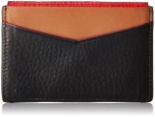 Fossil Original ML3716001 Black Elliot Card Case Leather Men's Wallet