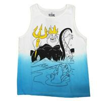 Mens White Blue Dip Disney Ariel The Little Mermaid Ursula Tee T Shirt