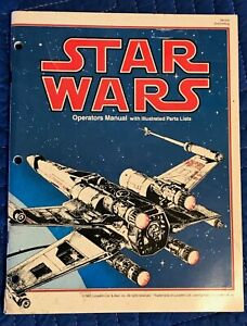 Original Atari Star Wars Video Arcade Game Parts Operating Manual & Parts List