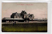 I.C.R. STATION, MONCTON: New Brunswick Canada postcard (C28724)