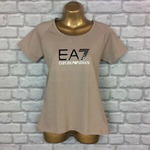 EA7 EMPORIO ARMANI LADIES BROWN T-SHIRT TEE SHORT SLEEVE RRP £50 AD