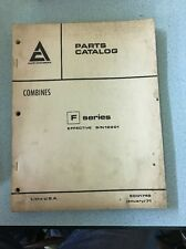 parts catalog Allis Chalmers F Series january 1971 9001749 manual combine