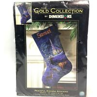Dimensions Peaceful Evening Stocking Gold Collection 8681 NEW James Meger