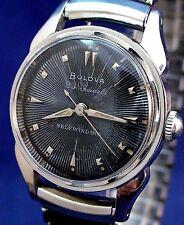 Bulova vintage 1958 USA 23J self-winding ss watch with Speidel stretch band