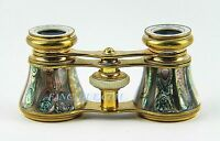 ANTIQUE FRENCH OPERA GLASSES AMAZING ABALONE MOTHER OF PEARL # 155 PARIS