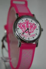 Juicy Couture Pink Rubber Trendy Watch 1900618 Ladies Gift