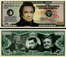 JOHNNY CASH - BILLET MILLION DOLLAR US ! THE MAN IN BLACK ! Rock Country Blues..