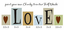 Stencil Love Prim Hearts Chunky Block Country Family Home Decor Art craft signs