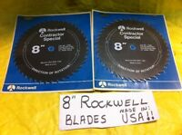 "Set of 2 ROCKWELL (TOP USA BRAND) 8"" COMBINATION RIP CIRCULAR SAW BLADES  NEW"