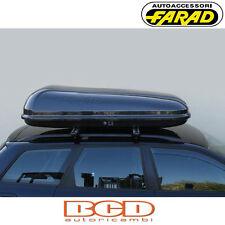 FARAD - BOX BAULE PORTAPACCHI F1 N2 450LT NERO GOFFRATO - PORTABAGAGLI AUTO