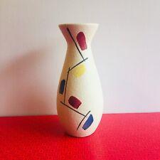 Scheurich Vase West German 522-20 circa 50's Vintage Mid-Centruy Retro Abstract