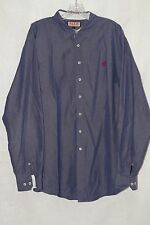 Pink by Thomas Pink Men's Blue Long Sleeve Button Front Shirt sz XL
