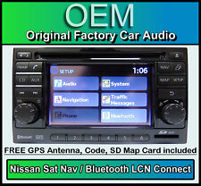 Nissan Qashqai Sat Nav car stereo + Map SD Card, LCN Connect CD player radio