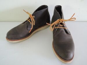 Red Wing 3150 WORK CHUKKA Charcoal Rough Tough Leather Shoes Boots  Size 7 D