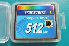 Transcend CompactFlash, CF.- Karte, CF.-Card, 512 MB., 80x, + neue Box, Nr. 446b