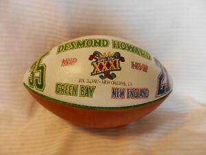 Desmond Howard Green Bay Packers Super Bowl XXXI MVP Presentation Game Ball 1/12
