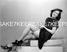 LEGGY MODEL 1940s-50s FIXING HER NYLON STOCKINGS UPSKIRT PHOTO A-UKN2b