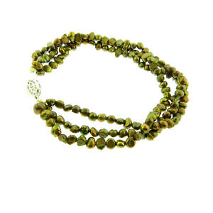 "Freshwater Pearl Triple Strand Bracelet or Anklet 9"""