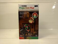 Gemmy Projection Plus Whirl A Motion & Static Santa Claus Christmas Light ch251